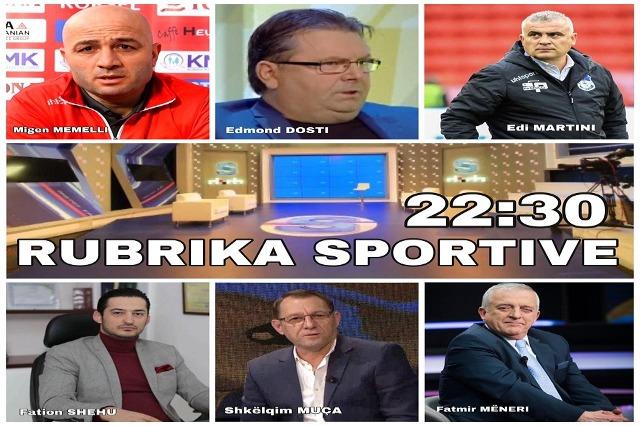 Ora 22:30, Rubrika Sportive në RTSH