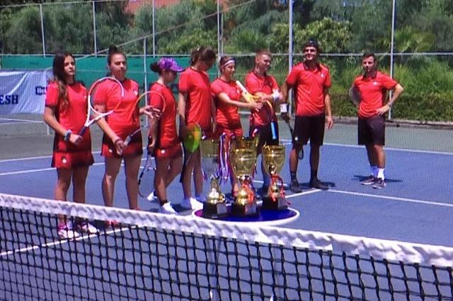 Martin Muhedini dhe Kristal Dule, kampionët e tenisit