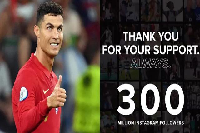 Kristiano Ronaldo rekord, 300 milionë ndjekës!