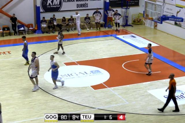 """Basketboll Meshkuj/Teuta, """"makthi"""" i Goga Basket"""