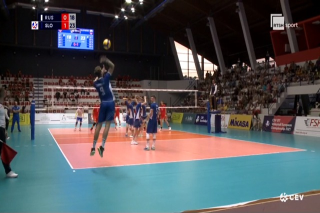 Volejboll, Sllovenia shpallet kampione e Europës