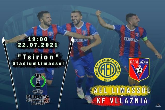 AEL Limasol-Vllaznia, ndryshon orari