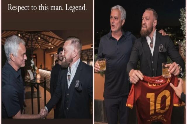 McGregor, fanella e Romës dhe uiski me Mourinho-n: Jose është një legjendë